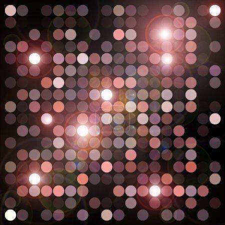 Foto de Patrón geométrico círculos y fondo de luces parpadeantes. Ilustración digital abstracto. - Imagen libre de derechos