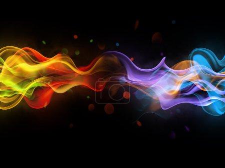 Foto de Abstracción de fondo borroso brillante con líneas de colores - Imagen libre de derechos
