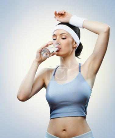 Photo for Athlete drinking water - Royalty Free Image