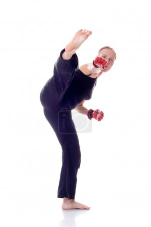 Beautiful girl with boxing gloves