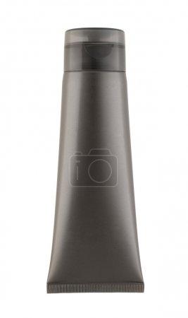 Photo pour Nouveau tube réfléchissant gris avec shampooing - image libre de droit