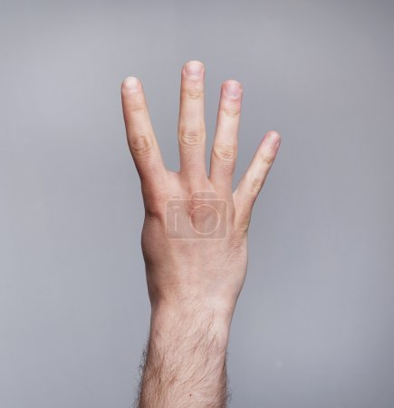 Photo for Figure of four fingers - Royalty Free Image