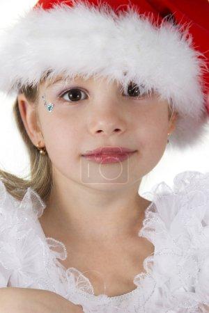 Cute little girl in claus hat