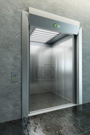 Foto de Moderno ascensor con las puertas abiertas - Imagen libre de derechos