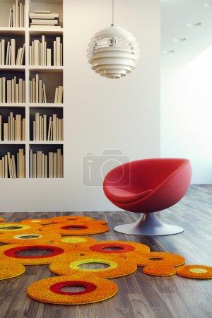 Photo for Design of lounge room, 3d render - Royalty Free Image