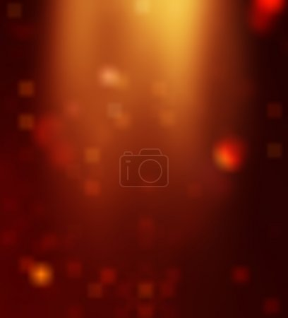 Bokeh against a dark background for use at graphic design
