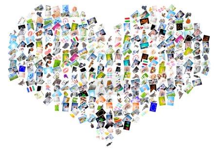 Photo pour Symbole coeur sur fond blanc - image libre de droit