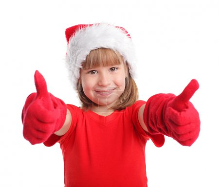 Happy child in christmas hat