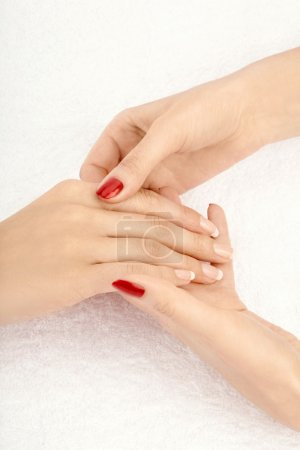 Photo for Close up of massage of the female hand, isolated - Royalty Free Image