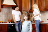 Quarrel of parents