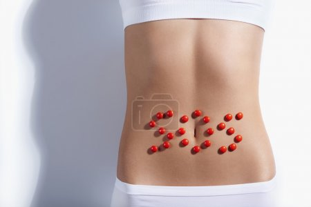 SOS sign on the stomach