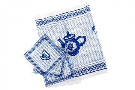 Photo for Object on white - napkin close up - Royalty Free Image