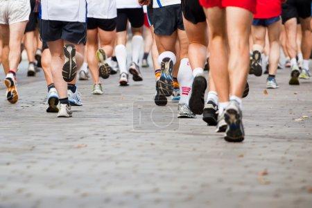 running in city marathon