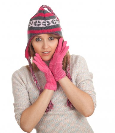 Young woman in winter hat