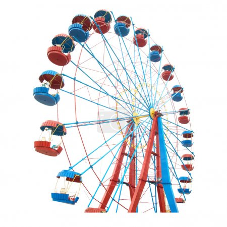 Photo for The Ferris wheel isolated on white background - Royalty Free Image
