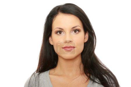 Photo pour Portrait de femme d'affaires isolé sur fond blanc - image libre de droit