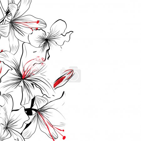 Illustration for Romantic floral background - Royalty Free Image