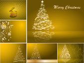 Set of stylized Christmas card