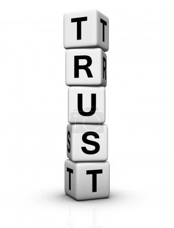 Photo pour Tour de cubes de spirale Trust - image libre de droit