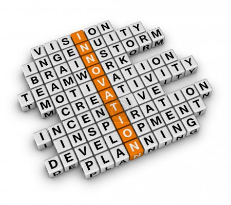 Photo for 3D cubes crossword orange series - Royalty Free Image