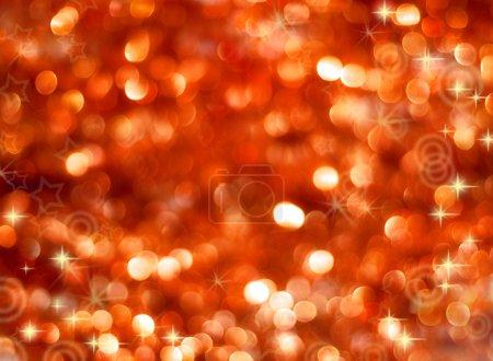 Foto de Resumen luces brillantes sobre un fondo rojo - Imagen libre de derechos