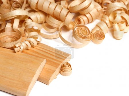 Wooden chips and planks