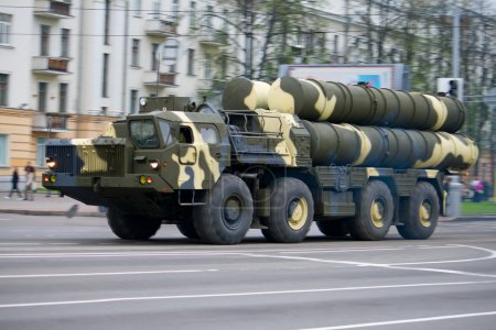 Anti-aircraft complex s-300 in motion