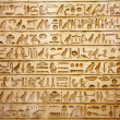 Old egypt hieroglyphs carved on the stone...