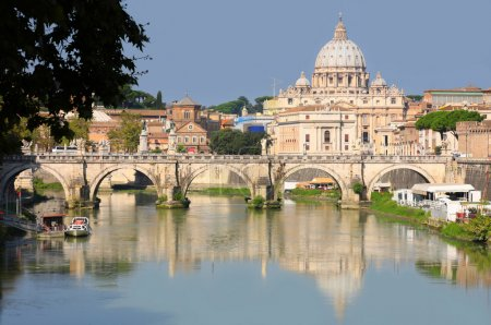 View of panorama Vatican City in Rome, Italy