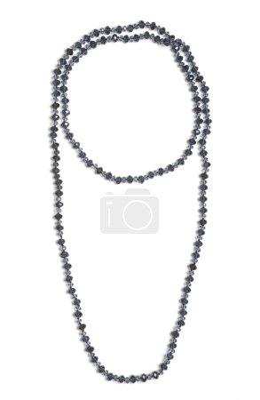 Black beads on white