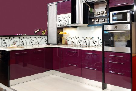 Foto de Cocina púrpura - Imagen libre de derechos