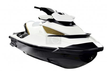 Jet ski front view isolated