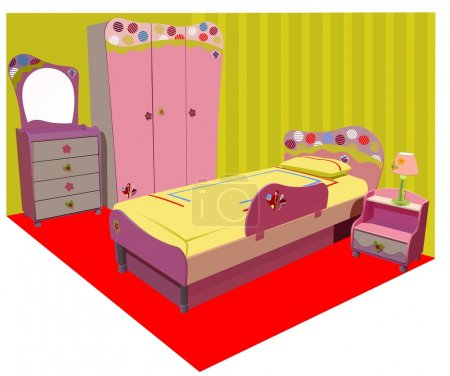 Illustration for Colorful children room vector illustration - Royalty Free Image