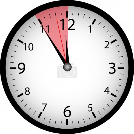 "Illustration for Clock ""5 to 12"" - Royalty Free Image"