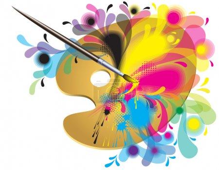 Palette of the artist
