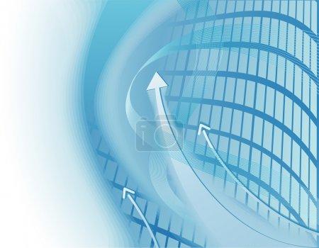 Illustration pour Fond moderne bleu clair et blanc avec des flèches - image libre de droit