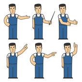 Mechanic character set 03