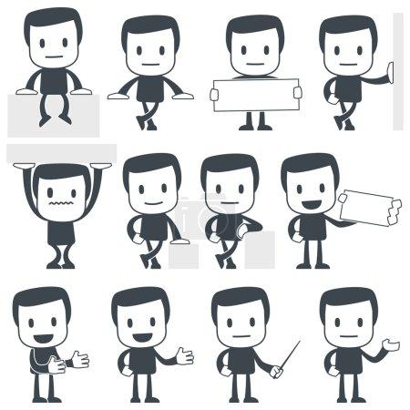 Photo pour Illustration vectorielle d'un personnage mignon simple à utiliser dans les présentations, manuels, design, etc.. - image libre de droit