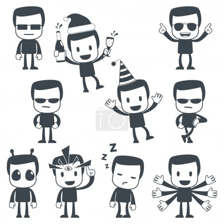 Illustration pour Illustration vectorielle d'un personnage mignon simple à utiliser dans les présentations, manuels, design, etc.. - image libre de droit