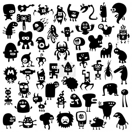 Photo pour Tous les monstres sont uniques et ne se répètent pas avec d'autres collections - image libre de droit