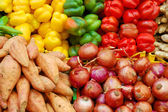 Close up of colorful vegetables