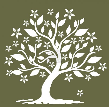 Illustration for Abstract floral tree, symbol of nature - Royalty Free Image