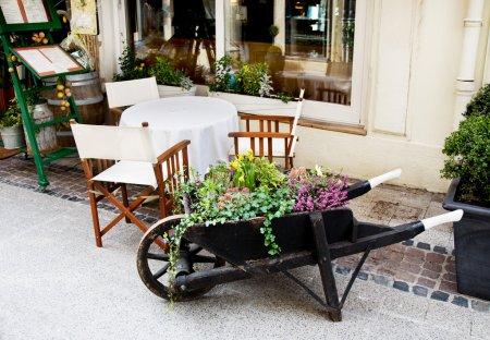 European outdoor cafe