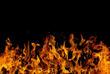 Photo for Fire flames on black background - Royalty Free Image