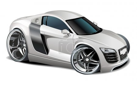 Vector modern cartoon car