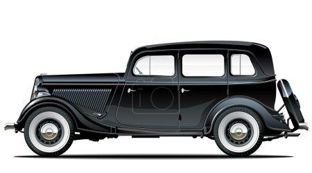 Illustration for Vector vintage car - Royalty Free Image
