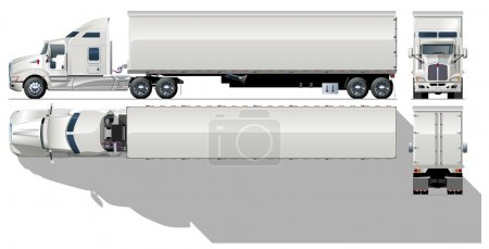 Photo for Vector hi-detailed semi-truck. Available ai-10 vector format with transparency option on shadows - Royalty Free Image