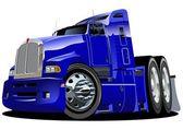 Vector cartoon semi truck