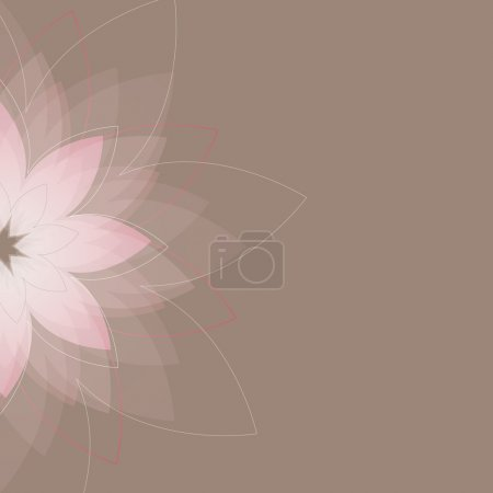 Abstract background with fun flowers. Vector illustration