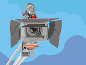 Hd-camcorder on crane